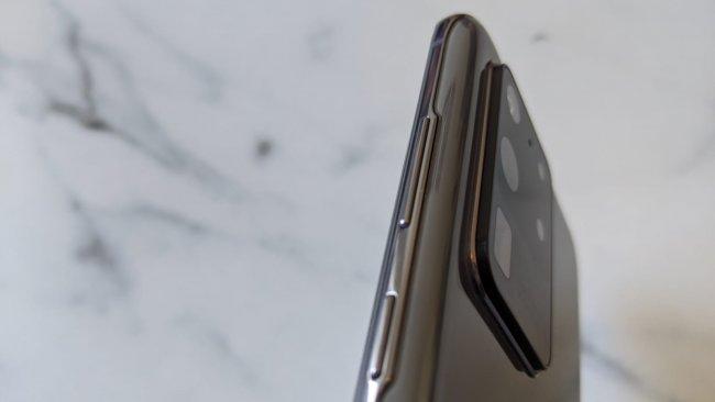 Die Lautstärke-Regler und der Power-Button des Galaxy S20 Ultra 5G / Bild von Moritz Stoll