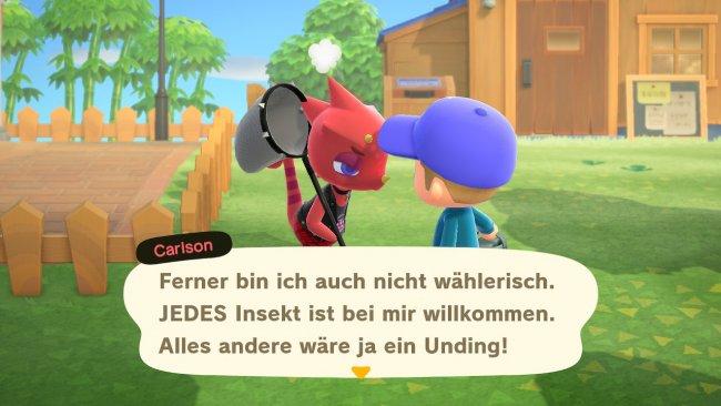 Carlson in Animal Crossing: New Horizins / Screenshot von Moritz Stoll