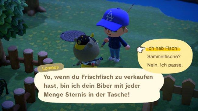 Lomeus in Animal Crossing: New Horizins / Screenshot von Moritz Stoll