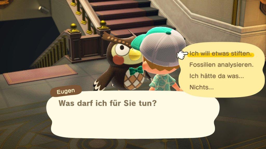 Animal Crossing: New Horizons Tipps und Tricks - Spenden für das Museum / Screenshot aus Animal Crossing von Nintendo erstellt von Moritz Stoll