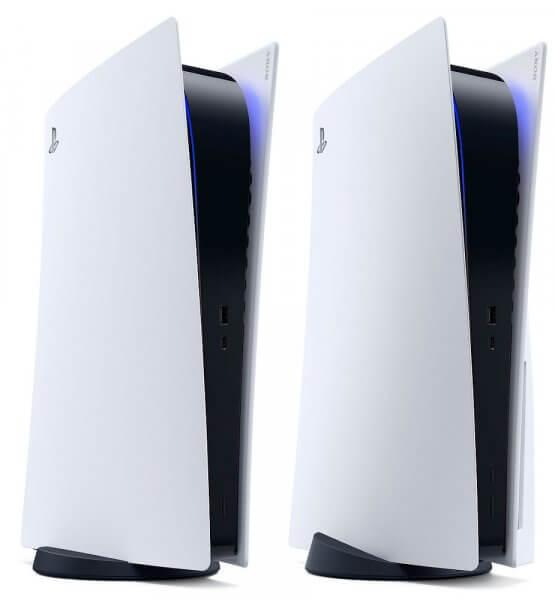 Die PlayStation 5 als normale und Digital Edtion.