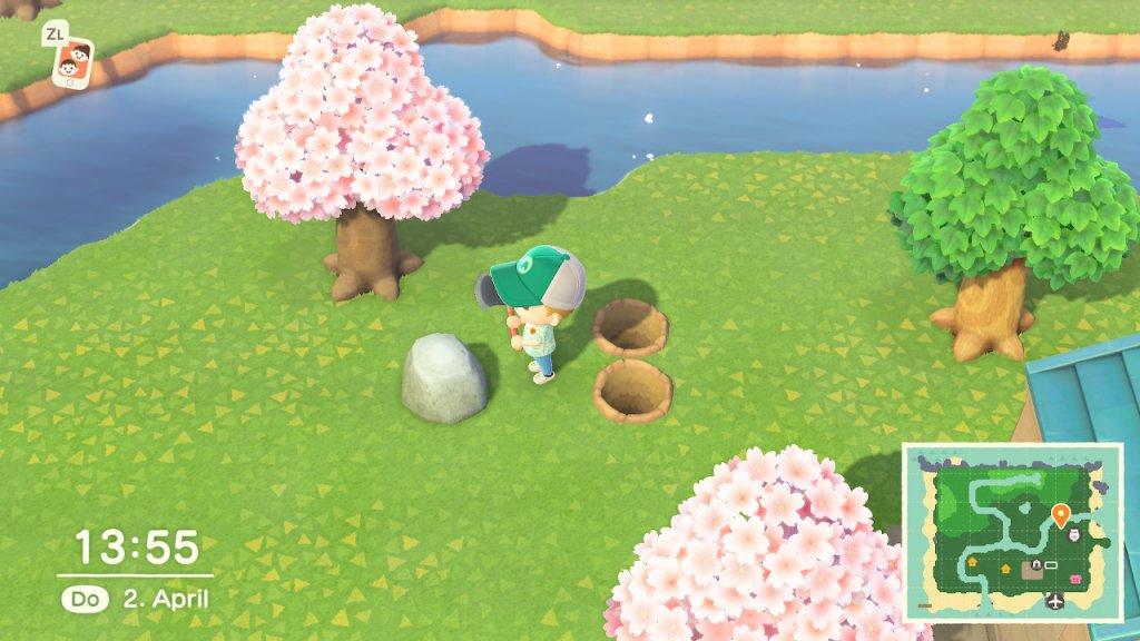 Animal Crossing: New Horizons Tipps und Tricks - Steine Farmen / Screenshot aus Animal Crossing von Nintendo erstellt von Moritz Stoll