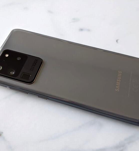 Titelbild Rückseite des Samsung Galaxy S20 Ultra 5G / Bild von Moritz Stoll