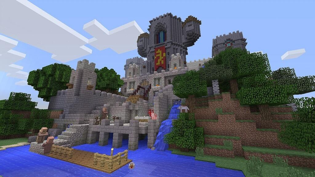 Eine Burg im Spiel Minecraft
