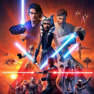 Keyart von Star Wars: The Clone Wars - Staffel 7