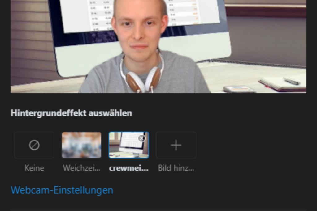 Skype Hintergrund weichzeichnen Einstellungen / Screenshot aus Skype erstellt von Moritz Stoll