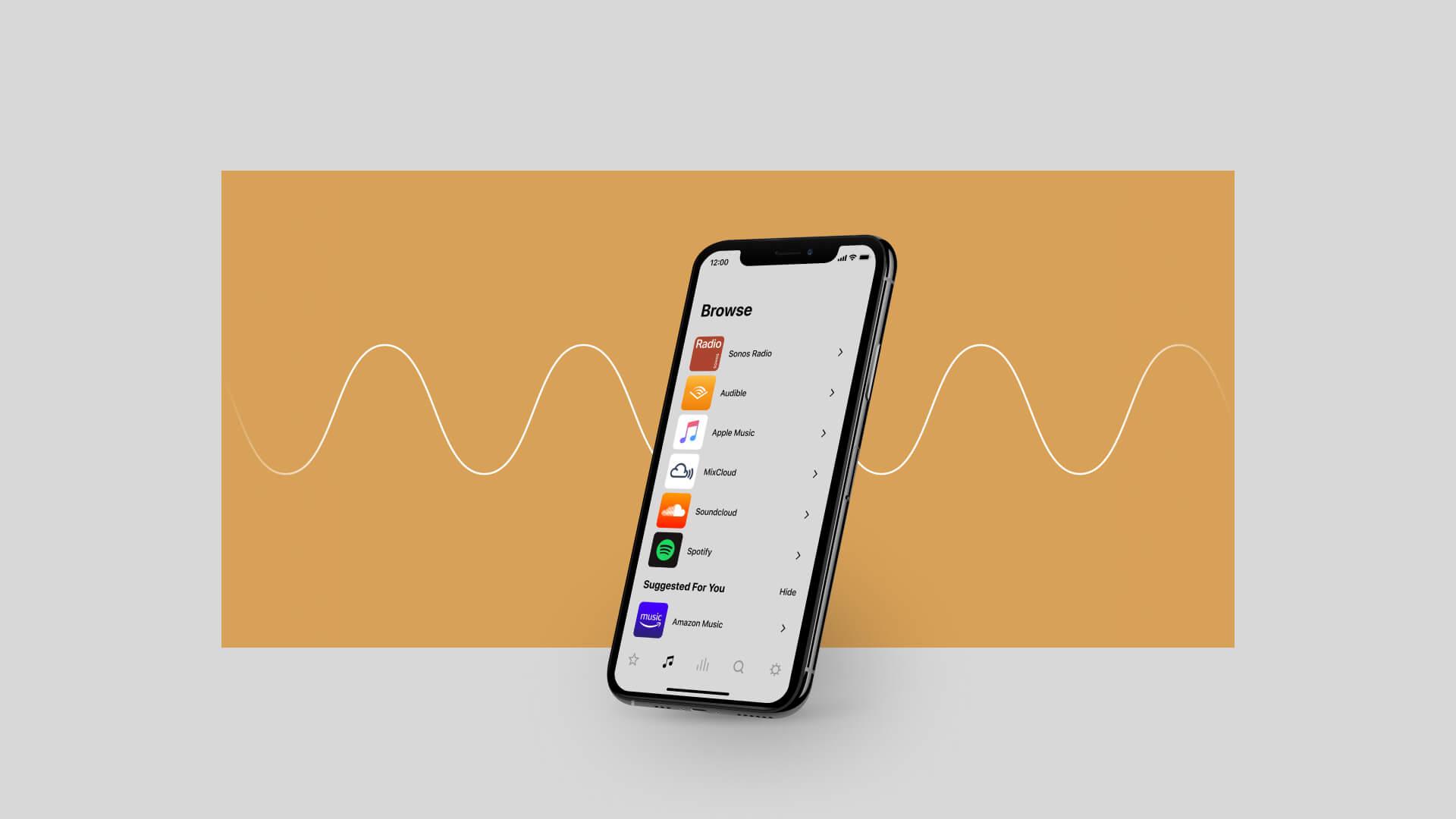 Sonos S2 App Menü-Browser