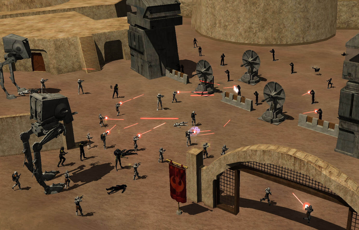 Eine Schlacht in Star Wars Galaxies