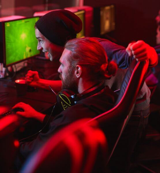 Gemeinsames Spielen auf einer Gaming Messe