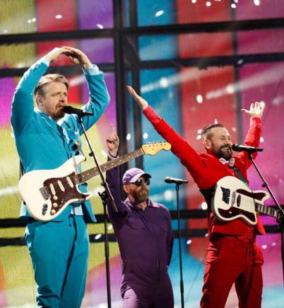 Die isländische Band Pollapönk Beim Eurovision Song Contest 2014