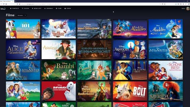Disney Plus auf dem PC.