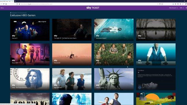 Sky Ticket auf dem PC für den Streaming-Dienst Vergleich.