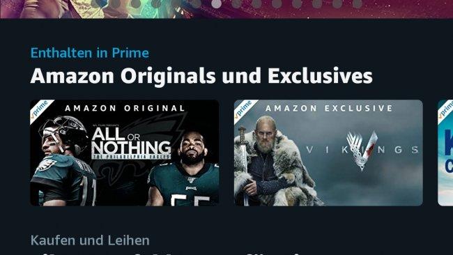 Amazon Prime Video auf dem Smartphone.