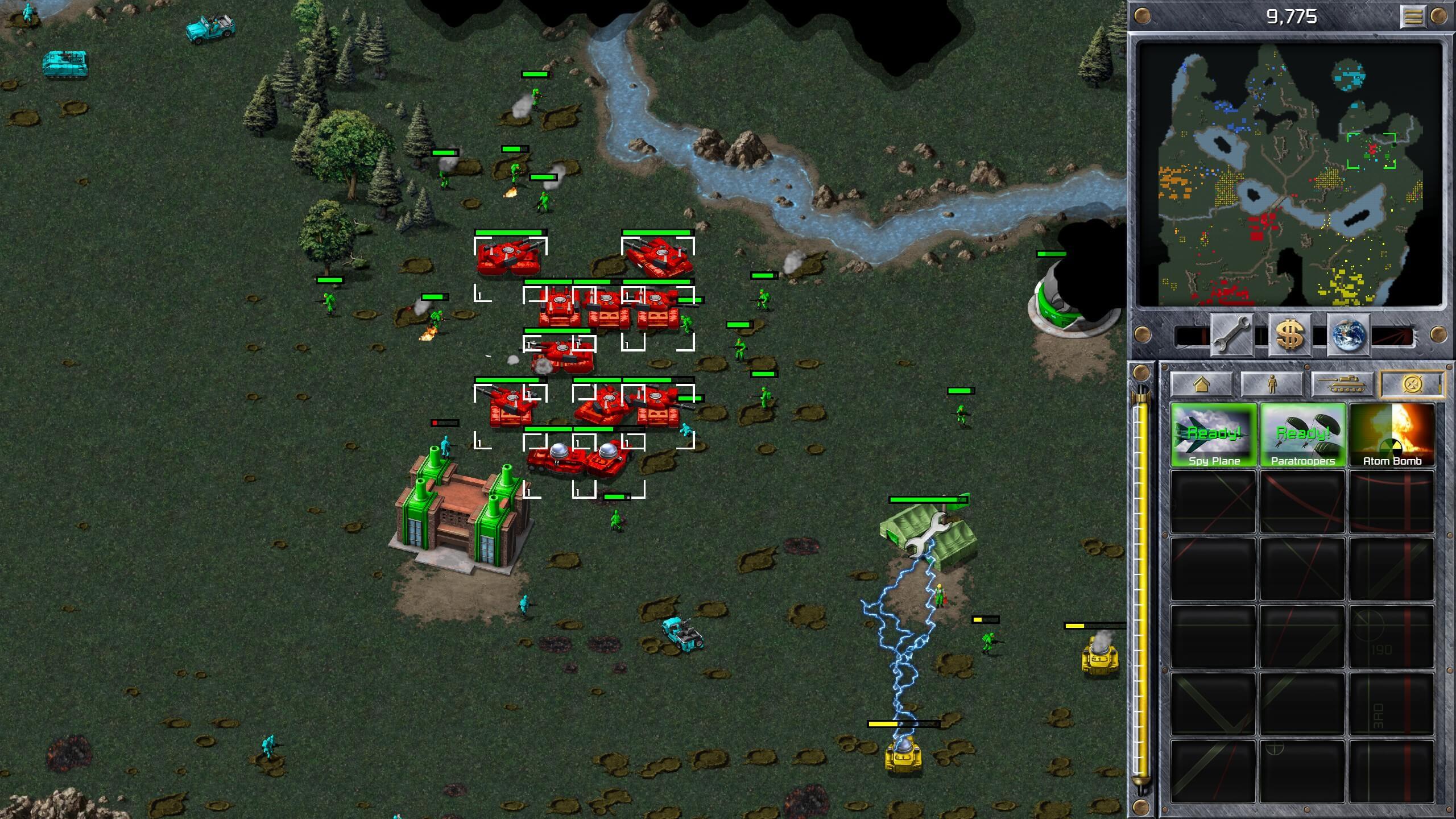 Zerstörung einer gegnerischen Basis in Command & Conquer Remastered