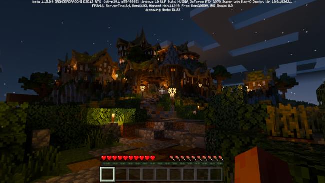 Minecraft mit Raytracing im Aero 7 HDR Test