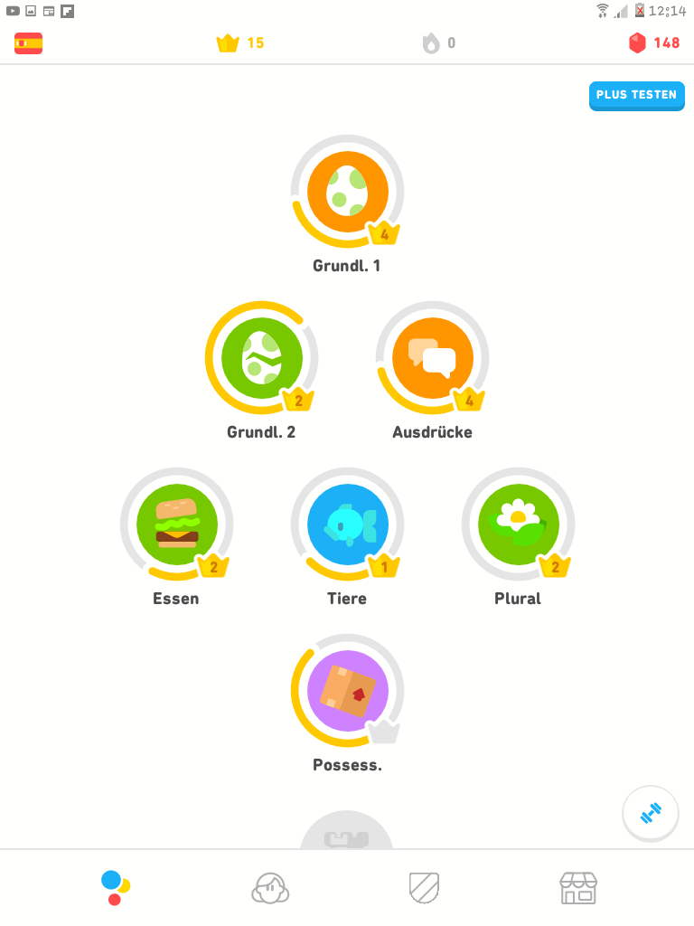 Screenshot Duolingo