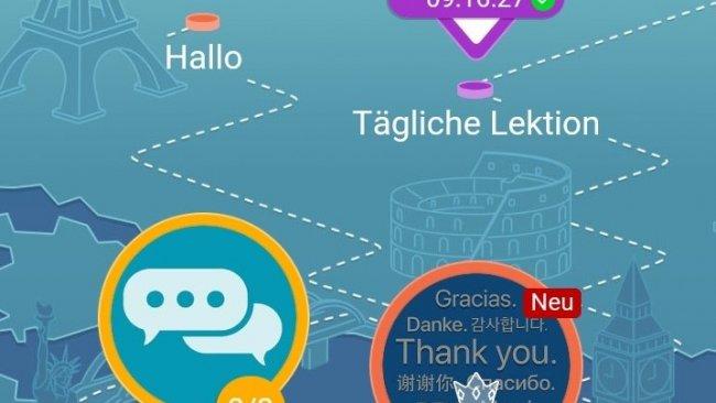 Screenshot Mondly Karte Sprache lernen