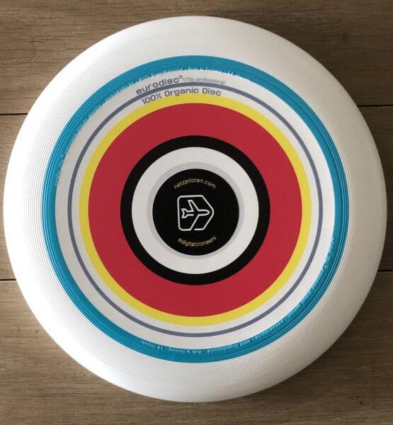 Frisbee mit Netzpiloten Branding