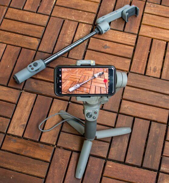 DJI Osmo Mobile 3 mit iPhone Pro 11 filmt Zhiyun Smooth X