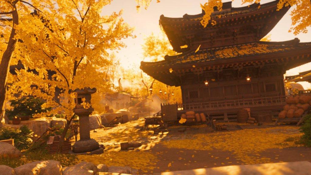 Ein Tempel im Spiel Ghost of Tsushima