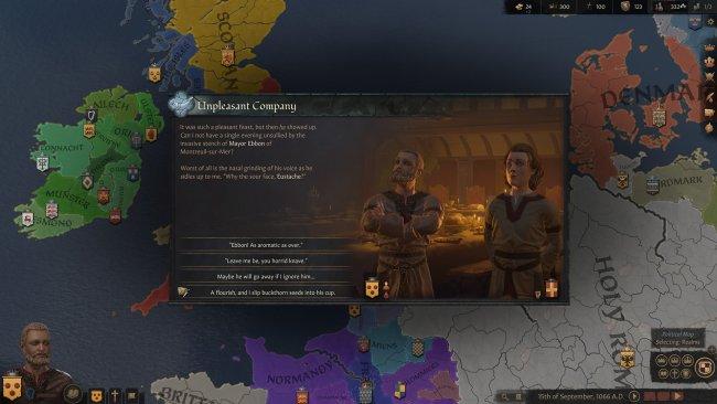 Ein entscheidungsfenster in Crusader Kings 3 / Bild von Paradox Development Studios