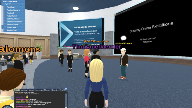 Panel about Digital and Virtual Art Exhibitions, Laval Virtual, 2020 (c) Tina Sauerlaender