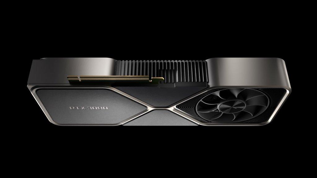Die GeForce RTX 3080 von der Seite
