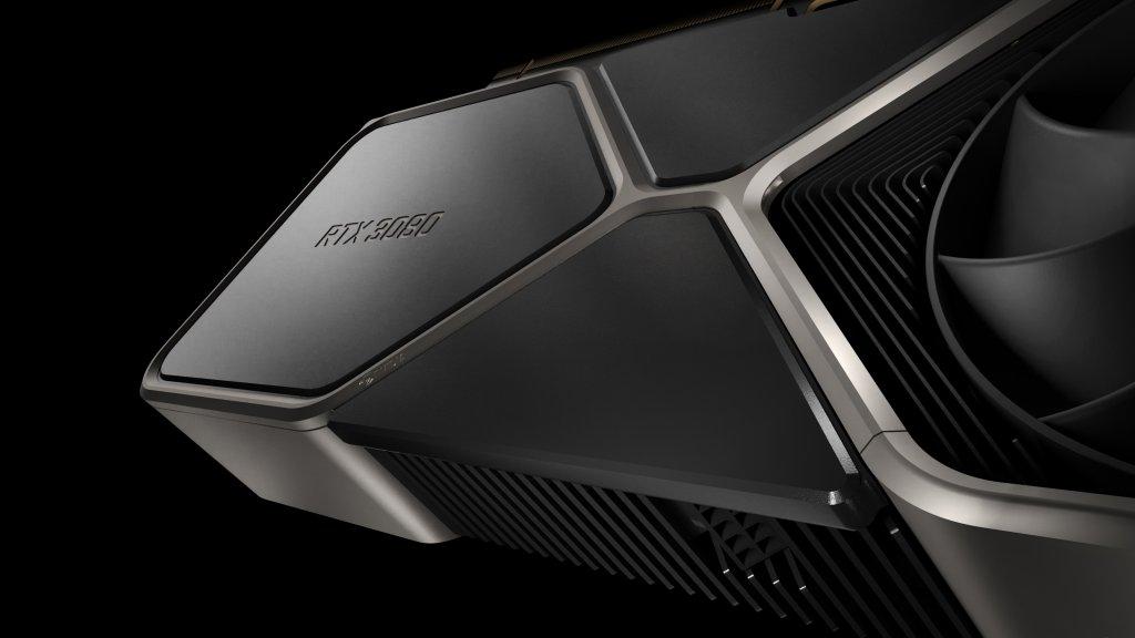 Nahansicht der GeForce RTX 3080