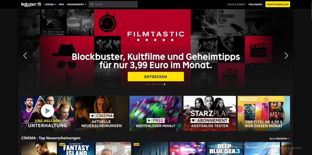 Rakutven.tv als Netflix Alternative
