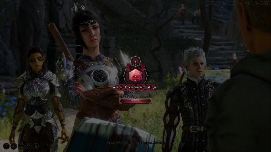 Dialog in Baldur's Gate 3 schlägt fehl
