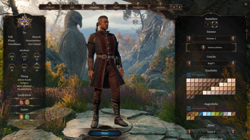 Erstellung eines Hexenmeisters in Baldur's Gate 3