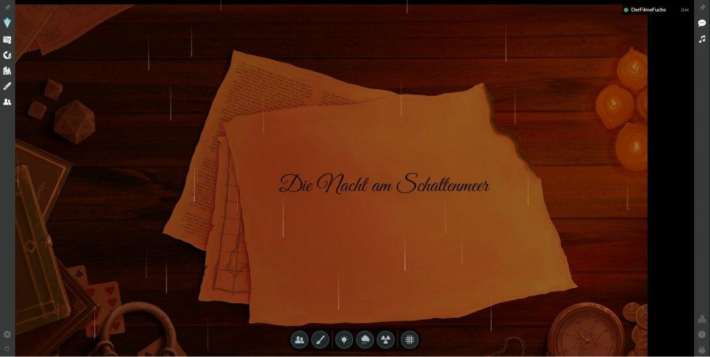 Das Bild zeigt einen Screenshot von AstralTabeltop beim Pen and Paper online spielen