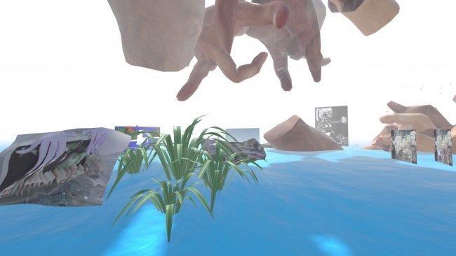 Das Bild zeigt ein Austellungsstück von Kara Agora zum Thema Virutelle Räume selbst gestalten