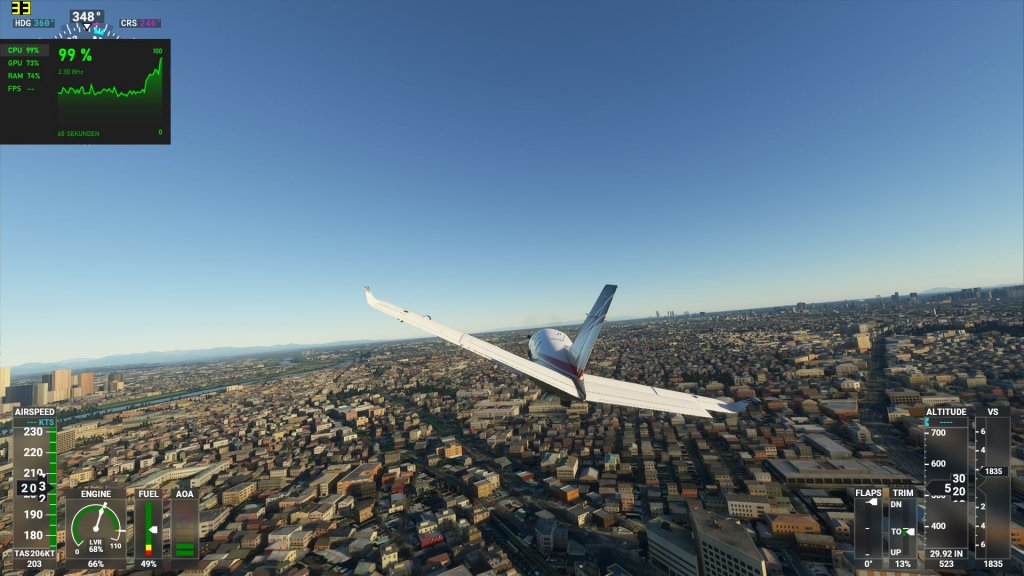 Flight Simulator auf dem Aorus 17G