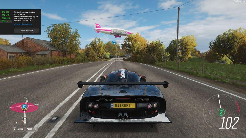 Forza Horizon 4 auf dem Aorus 17G