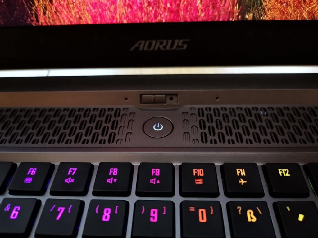 Die mechanische Tastatur des Aorus 17G