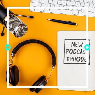 Das Bild zeigt die Vorbereitung beim erstellen eines eigenen Podcast