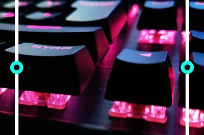 Eine RGB-beleuchtete, mechanische Tastatur
