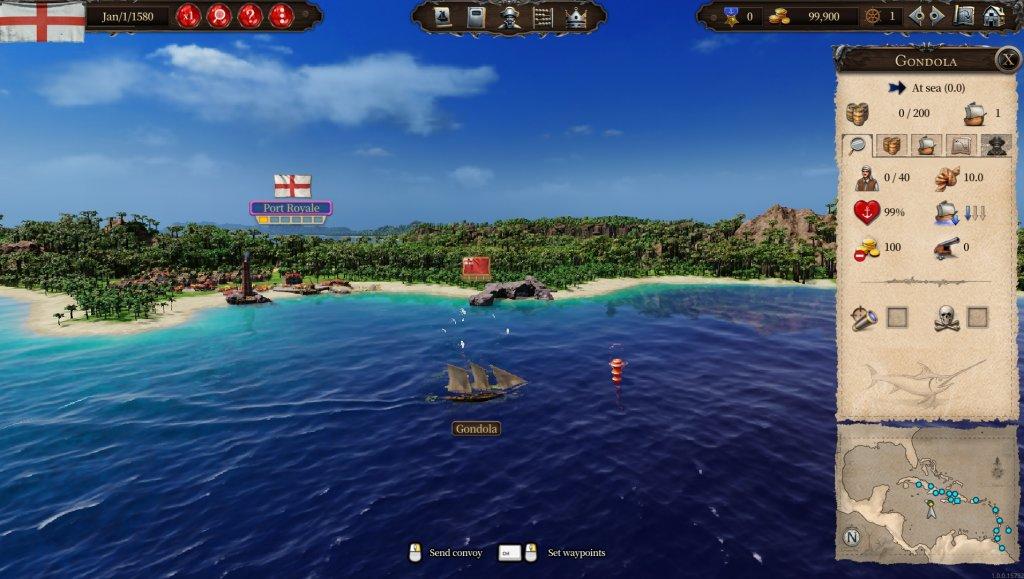 Zeigt ein Schiff in Port Royale 4