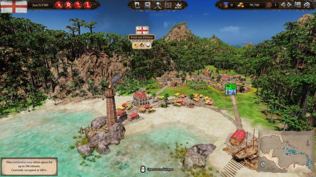 Zeigt eine Stadt in Port Royale 4