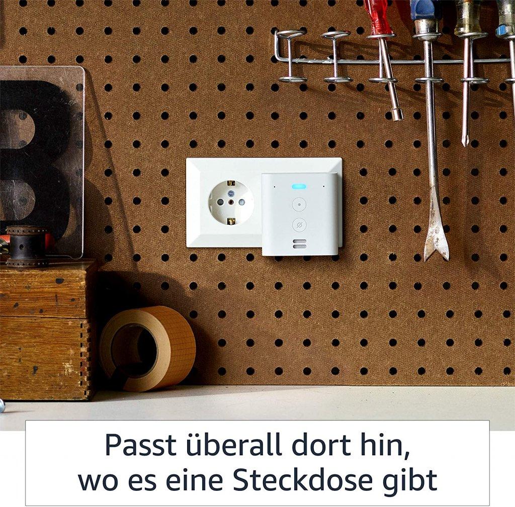 Amazon Flex, ein Smart Speaker der einfach in die Steckdose gesteckt wird