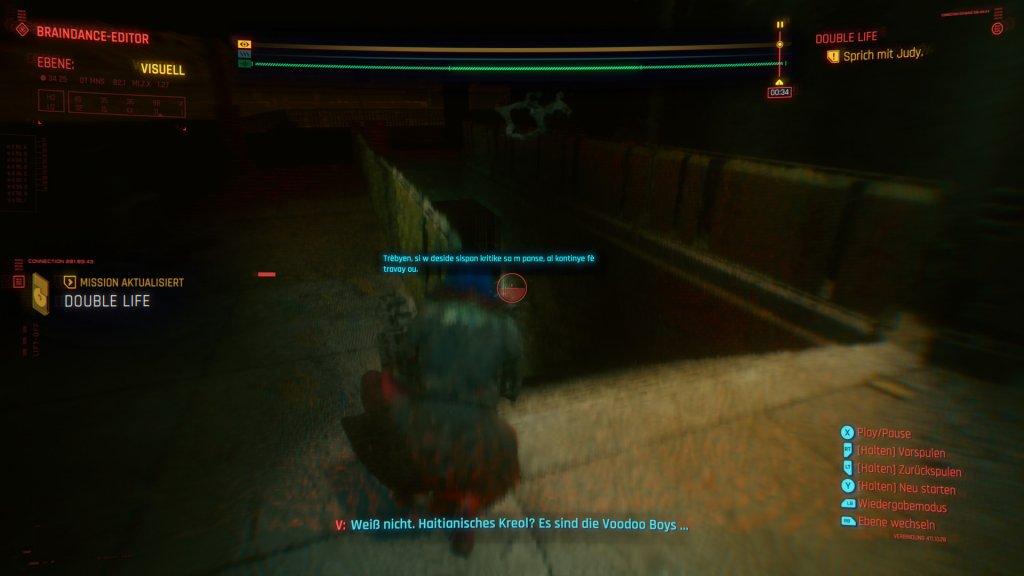 Braindance in Cyperpunk 2077