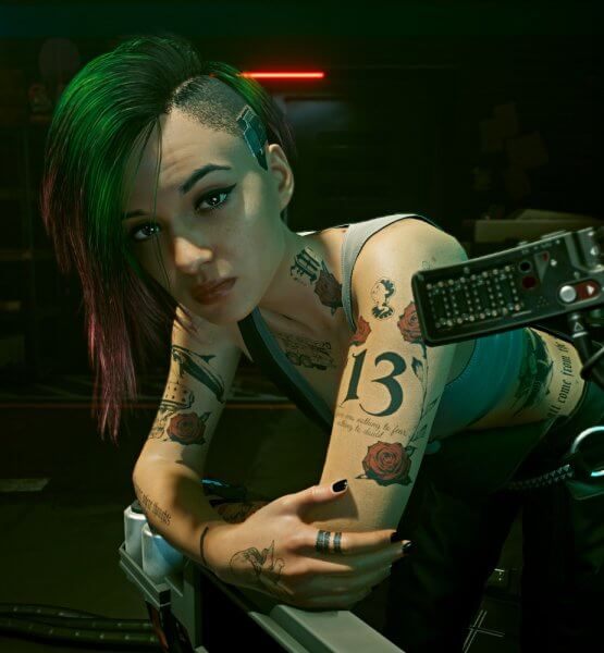 Judy aus dem Spiel Cyberpunk 2077