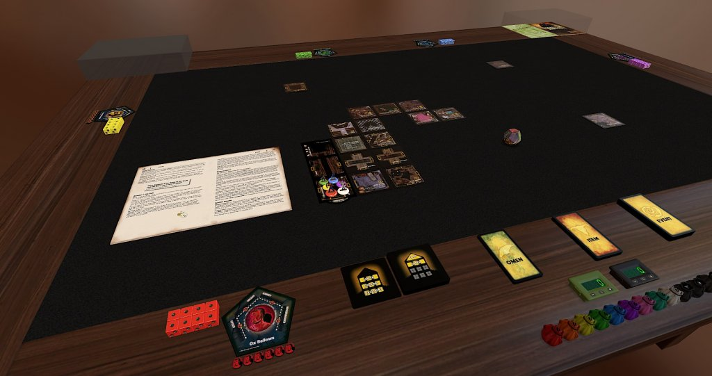 Das Bild zeigt das Spiel Betrayal at House on the Hill eine der besten Mods im Tabletop Simulator