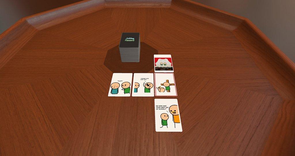 Das Bild zeigt Joking Hazard eine der besten Mods für den Tabletop Simulator