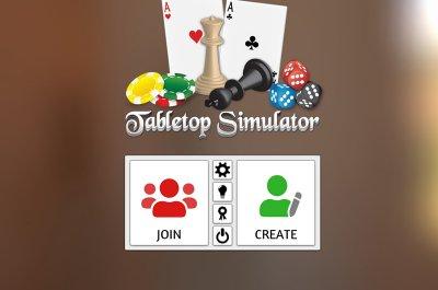 Das Bild zeigt den Tabletop Simulator Startbildschirm von dem man aus viele der besten Mods öffnen kann