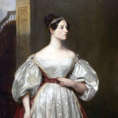 Ada Lovelace 1836, Gemälde von Margaret Sarah Carpenter