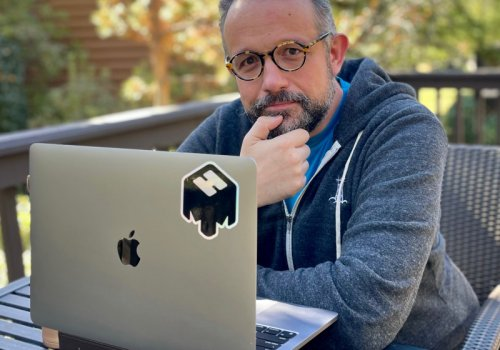 Phil Libin vor Laptop