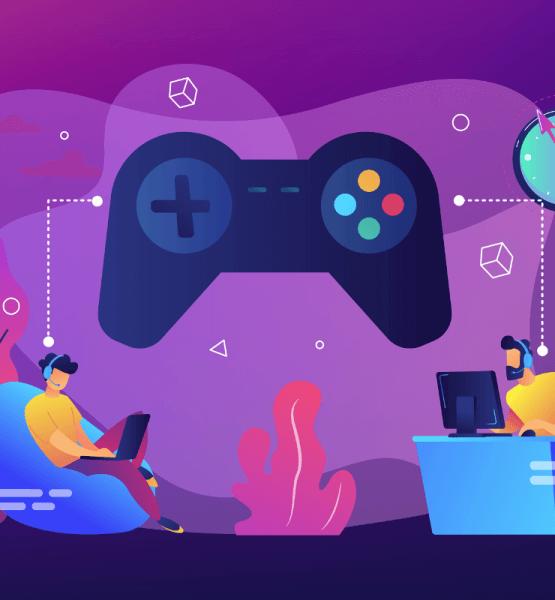 2 Gamer an unterschiedlichen Orten sind verbunden durch einen Controller