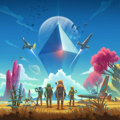 Multiplayer-Artwork von No Man's Sky